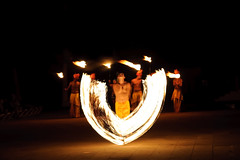 Fire Dancers (bruce...) Tags: night fire nikon puertovallarta d300 tamronspaf1750mmf28xrdiiildasphericalif