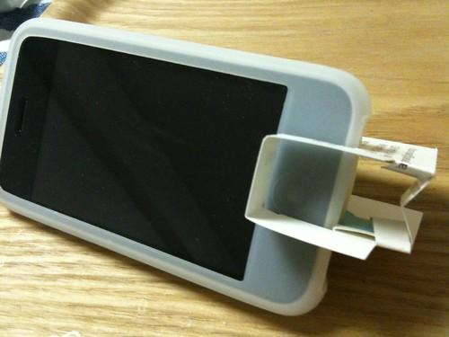 名刺で作るiPhoneスタンド