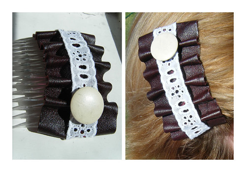 Scrap leather hair combs 3