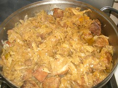pork and cabbage
