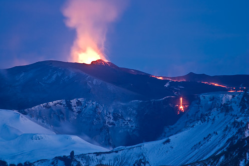Icelandic volcano eruption picture by Flickr user fridgeirsson