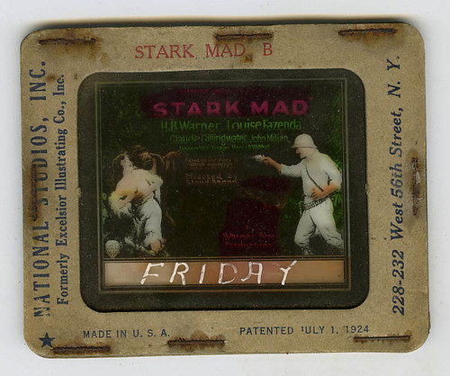 STARK MAD (1929) Slide unlit