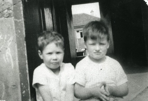 Eddie Ledger and George Weir 62 Lamlash Crescent Cranhill 1959