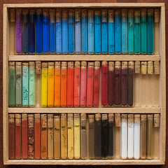 60 Pigments (Periegese [ timeout ]) Tags: macro art colors closeup canon square rainbow die gallery couleurs tube tubes colores 60mm couleur spectre palette farben arcenciel carr lige pigments bouchon lumineux flacon  gallerie lliwiau  litir vrit polychromie barvy sennelier kartpostal maimeri lumineuse  pigmenti 400d pigmentos echantillons vrvid  blockx pigmente allrightsreserved  newacademy colourartaward kolorw  quotidiae artofimages bestcapturesaoi elitegalleryaoi pigmendid  pigmenty     pigmenter  colorimtrique hmolyse