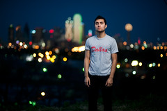 Dustin Cavazos:::Sunset (michael spear hawkins) Tags: camera city sunset sky urban man male guy scrapers buildings michael dallas nikon warm downtown texas f14 tx flash 85mm off dustin hispanic hip hop rap nikkor rapper hawkins spear levee cavazos d700