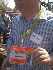 Len Devanna's SXSWi Badge at AllHat 2