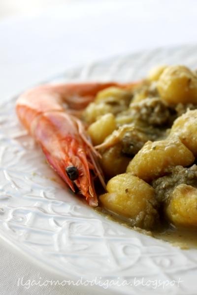 gnocchi ripieni e patè di carciofi