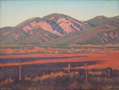 Late Light Taos Mountain - 16 x 20""