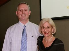 Dr. McManmon with Karen Kaplan
