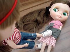 Help! Help! (Bruna Lacrout ☆) Tags: lana doll alice blythe rbl urbancowgirl takaratomy primadolly winsomewillow