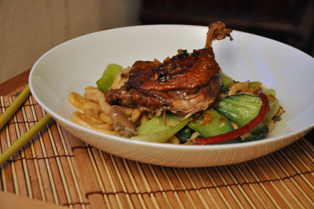 4519323169 c1d17bee93 z Crispy Duck with Udon Noodles