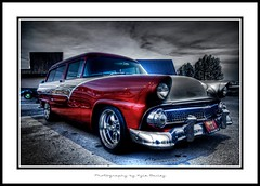 Grocery Getter (Kyle Bailey - Da Big Cheeze) Tags: red inspiration color cars vancouver canon wagon automobile colours wheels professional example chrome hotwheels hotrod trucks custom inspire rods hdr stationwagon critique kylebailey rookiephoto dabigcheeze wwwrookiephotocom worldmachineshdr