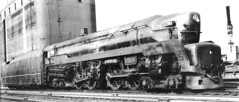 Pennsylvania Railroad T 1 Duplex steam locomotive. Chicago Illinois circa 1940's.