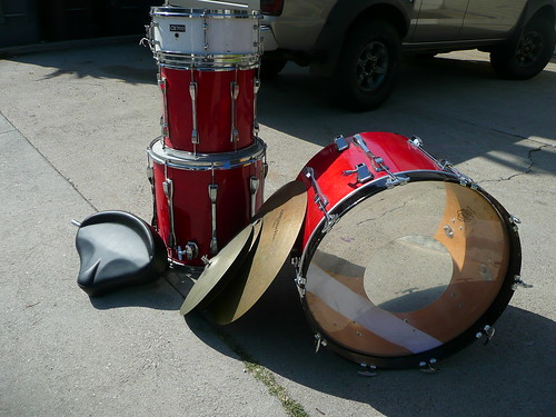 the drums.