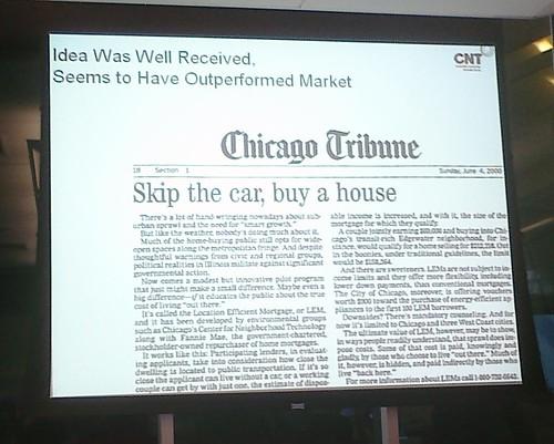 Skip the car, buy a house