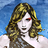 Give me a record and i'll break it (Village9991) Tags: blue light yellow graphics candy madonna grunge pop virgin blonde dots madge graphicmaster freedancephotographers