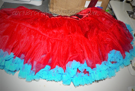 pettiskirt ruffler sewn daughter birthday