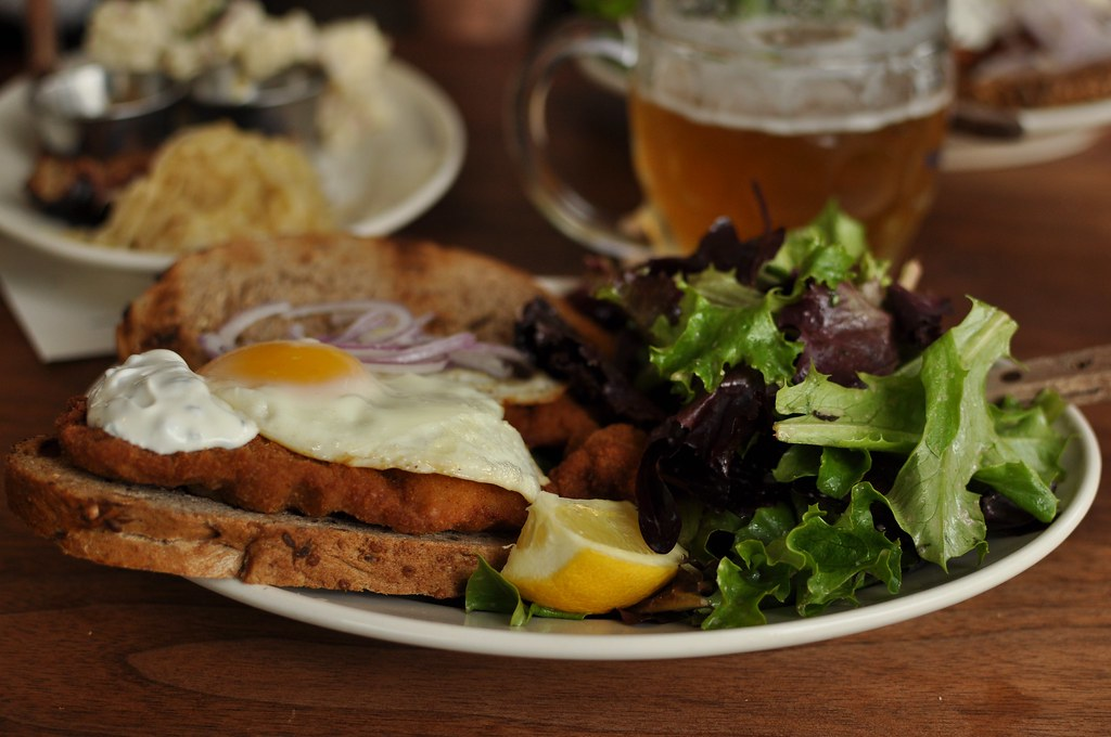 veal schnitzel sandwich