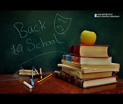 II..II Back to School =( II..II (Abdulrahman AL-Dukhaini || ) Tags: school book back nikon pens blackboard  18200mm