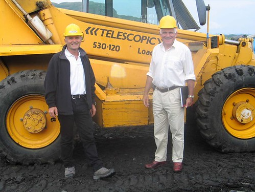 Mike Mackenzie and JCB