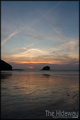 Portreath sunset (Simon Bone Photography) Tags: sea sky cloud sun reflection silhouette cornwall portreath canon1740mmlf4 cornishsunsets wwwthehidawaycouk canoneos7d