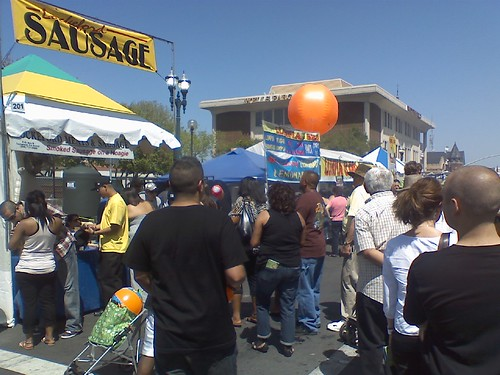 Lunch at the Stockton Asparagus Festival #fb