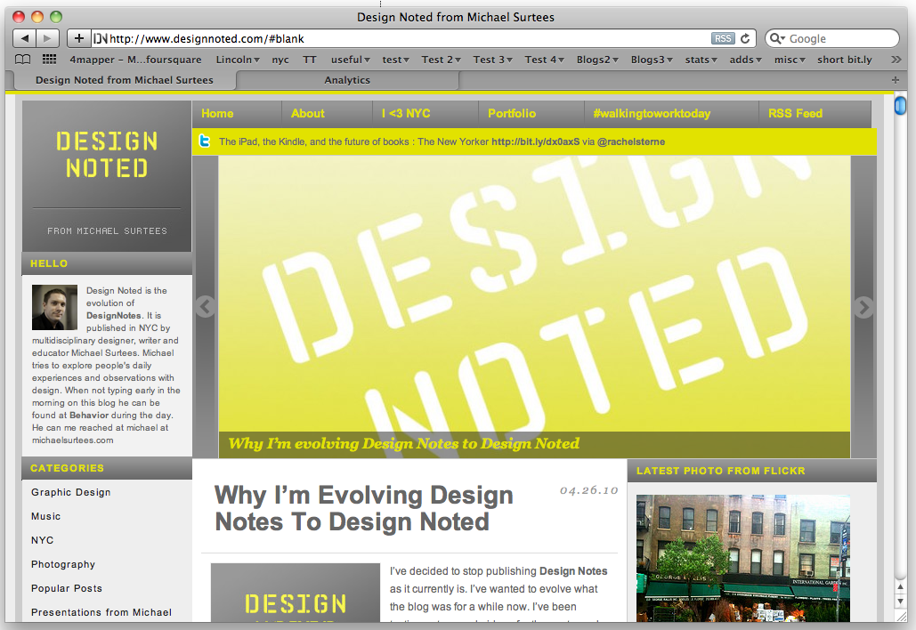 Design Notes is now Design Noted