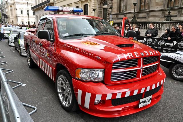 truck fire fart dodge ram gumball3000