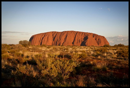 Sunset at Uluru National Park by Lucoye