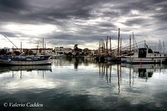 Shades of Grey (valerius25) Tags: sardegna canon reflections boats grey sardinia grigio barche riflessi hdr santantioco porticciolo 3xp calasetta 400d holidaysvacanzeurlaub valerius25 valeriocaddeu