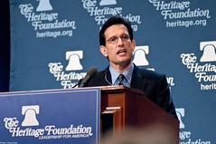 Rep. Eric Cantor (R-VA) addresses the spring 2010 President's Club meeting