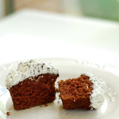 Devil's Food Cake with Cookies and Cream Icing