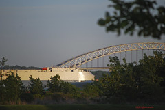 Ship and Bayonne Bridge
