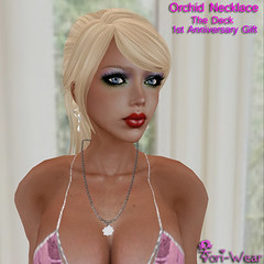 Tori-Wear Orchid Necklace