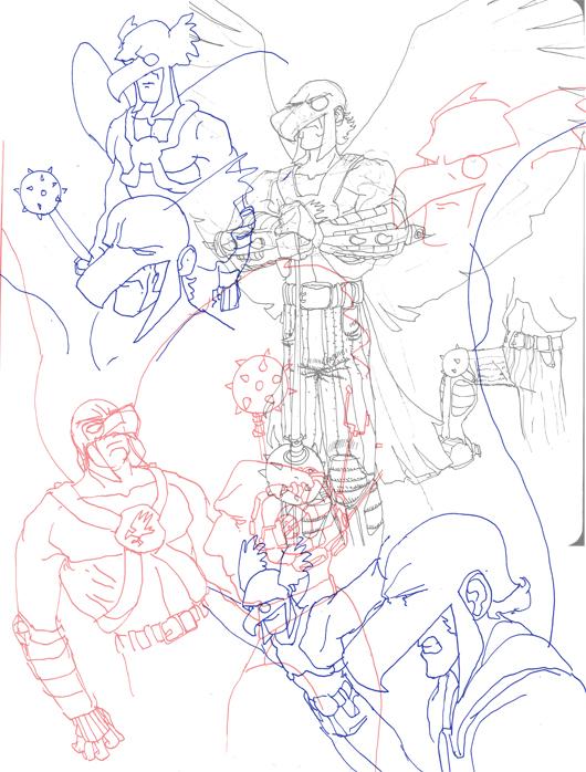 Hawkman Sketches