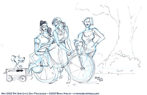 Dr Sketchys SF - May 2010 - Sexy Girls on Bikes