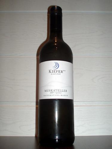 2009 Eichstetter Herrenbruck Muskateller Spätlese, Weingut Friedrich Kiefer Eichstetten am Kaiserstuhl