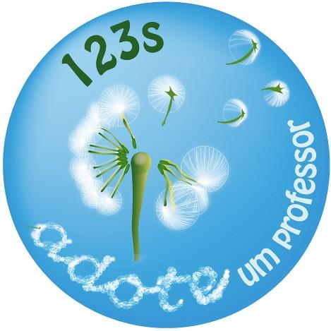 Logo do programa Adote um Professor, da 123s