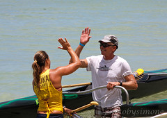 High Five (simone reddingius) Tags: woman sports sport race hawaii athletic maui watersports athlete fitness sup downwind wahine kanaha oc1 malikogulch olukai photobysimone