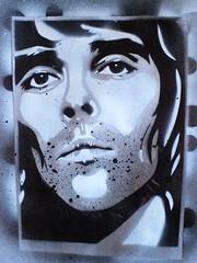 ian brown practice stencil (L.@.K.ART (JOIN L.@.K.ART ON FACEBOOK)) Tags: portrait brown silver paper ian stoneroses