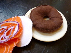 bagel and lox (rose (is red)) Tags: bagel playfood feltfood