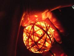 lumen essence (skintone) Tags: oneaday hand power goldenorb wicker luminescence memyselfandi redglow skintone fronthall decorativelight lumenessence 2010yip