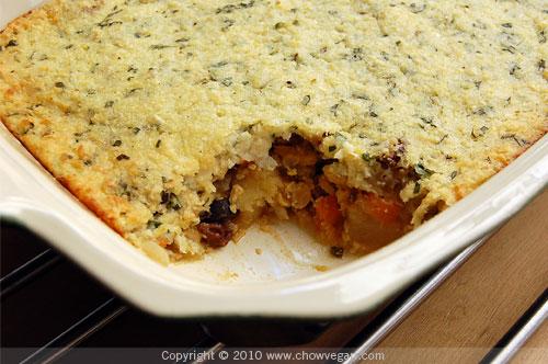 Corn-Crusted Tempeh Pot Pie From Viva Vegan!