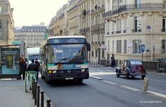 Paris: RATP R312 & 2CV (Amsterdam RAIL) Tags: paris france bus citroën 2cv capitale autobus ville ratp stlazare ruederome stadsbus stadtbus deuche lijnbus ligne66 amsterdamrail