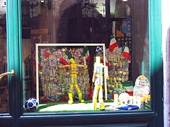 a shop window in Lucca, Italy celebrates the World Cup (c2010 FK Benfield)
