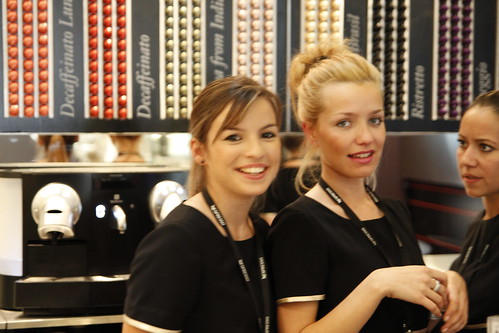 The pretty Nespresso girls