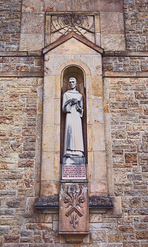 Saint Meinrad Archabbey, in Saint Meinrad, Indiana, USA - statue of Saint Bede the Venerable
