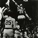 George Thompson jumps to grab a rebound, 1966? - 1969?