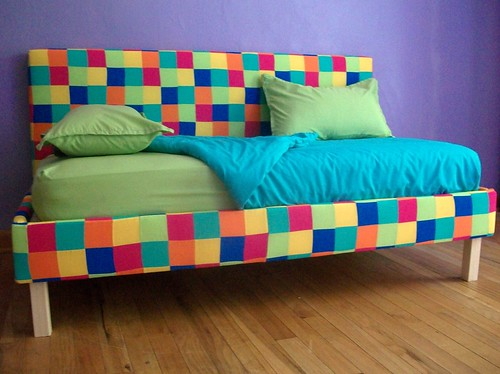 Patchwork Toddler Bed with Bedding