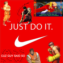 Street Fighter Guy Nike! (photoshop fly boy) Tags: street red guy japan four fight shoes kill fighter muscle ninja gear nike final samurai said cody mad alpha iv cuz discipline bushin kodachi